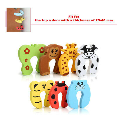 7pcs Baby Child Kids Finger Protector Guard Animal Door Stopper Jammer Safety