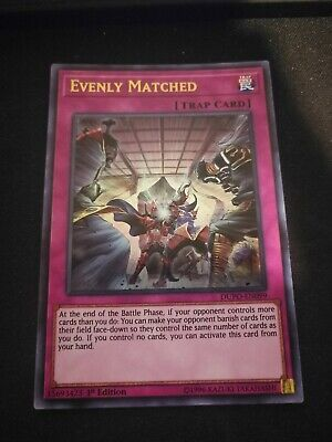Yugioh Evenly Matched DUPO-EN099 Ultra Rare 1st Edition