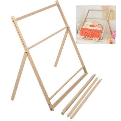 Adjustable Wooden Weaving Loom Machine Assembly High Quality 89 x 88 x 3cm NEW