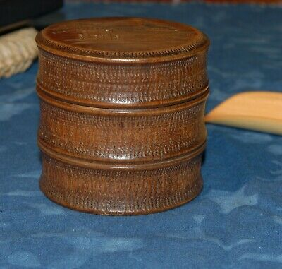 Vintage bamboo Japanese tea canister R420004