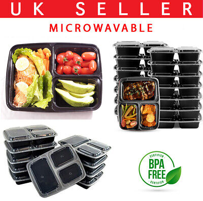 Food Containers Meal Prep Microwavable BPA Free Plastic Reusable Lunch Box 10-30