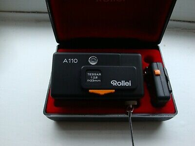 Rollei A110 in case with box and flash adaptor in excellent condition