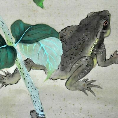 JAPANESE PAINTING Hydrangea HANGING SCROLL FROM JAPAN VINTAGE ART 587m