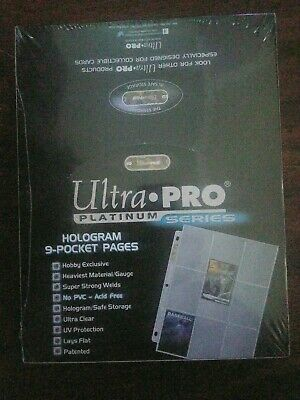 100 ULTRA PRO PLATINUM 9-POCKET Pages Sheets highest Quality Brand New