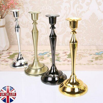 1Pair Metal Candle stick Candle Holders Tall Elegant Wedding Centrepiece Decor