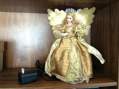 """Awesome Golden Filigre Light-Up Angel Christmas Tree Topper/Table Decoration """""""