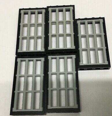 5 NEW LEGO prison windows and door pearl dark grey