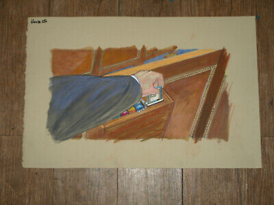 "US Senate In Session Original Art Courtroom Sketch Style 14""x23"""