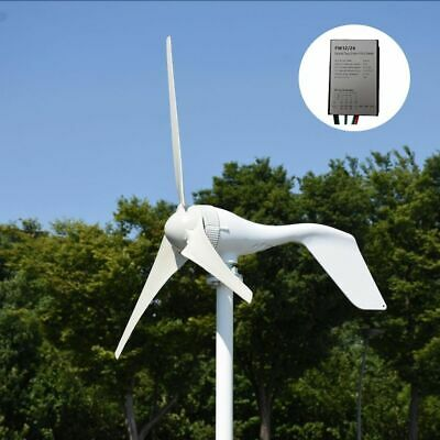 400W 12V/24V horizontal white wind turbine generator with charger controller