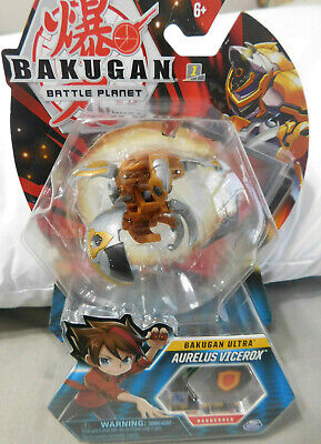 BAKUGAN Battle Brawlers  Planet  B300 AURELUS SERPENTEZE 2 Bakucores /& CARDS