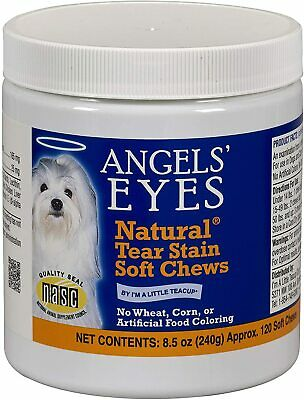 Angels' Eyes Natural Tear Stain 120 Count DOG Soft Chews 8.5 oz (240g) Chicken