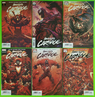Absolute Carnage #1 - #5 First Print Set + Artgerm #1 Variant Marvel 2019