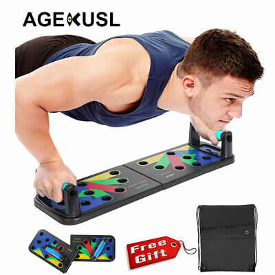 AGEKUSL Power Press Push Up Muscle Board System Pushup Stands Foldable Board