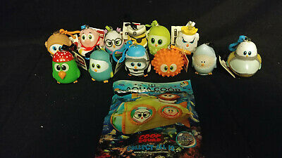 Aqua Coop Squad Individual Keychains Clips & Complete Set of 12 With Game Codes