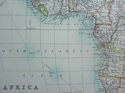 1910 Map ~ Africa ~ European Possessions Sudan Egypt Sahara Cape Colony