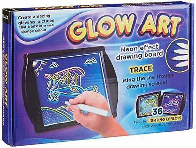 Glow Art Creative Drawing Pad Neon Light LED Lights Trace Sketchpad 36 Colours