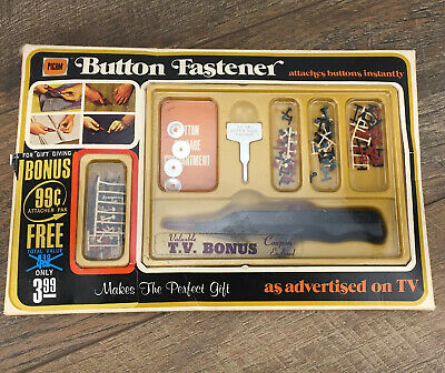 1972 Picam Button Fastener As Seen on TV! Original Box Vintage Used