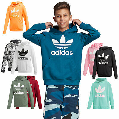 Adidas Originals Trefoil Kinder-Hoodie Hoody Hooded Sweater New