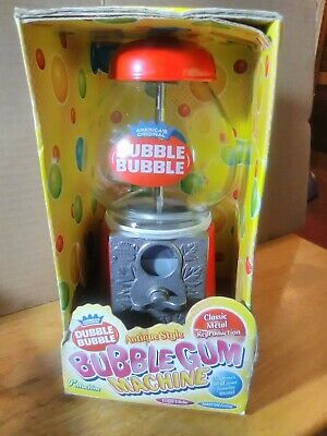 "9"" Classic Metal Reproduction Antique Style Red Bubble Gum Machine"