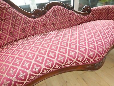 Vintage Single End carved mahogany wood Chaise Longue sofa,day bed,burgundy