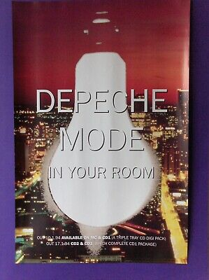 Depeche Mode In Your Room ORIGINAL 1994 UK PROMO POSTER Mute songs of faith