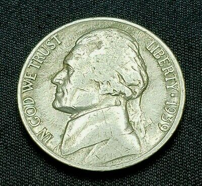 1939 S Jefferson Nickel, Rare, Mint of 6.6 MIL,  Free Ship!