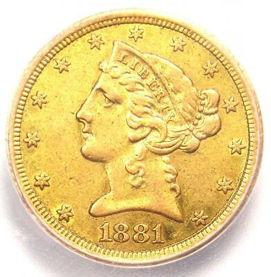 1881-CC Liberty Gold Half Eagle $5 Carson City Coin - ICG XF40 - $3,750 Value!