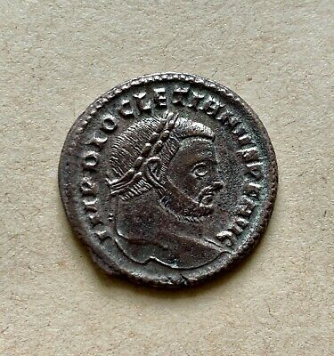 Diocletian (AD 284-305), AE Silvered Follis Siscia mint (AD 299). Excellent coin
