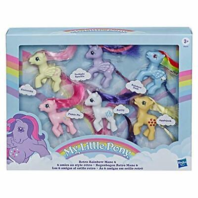 My Little Pony Retro Rainbow Mane 6 -- 80s-Inspired Collectable Figures with Ret