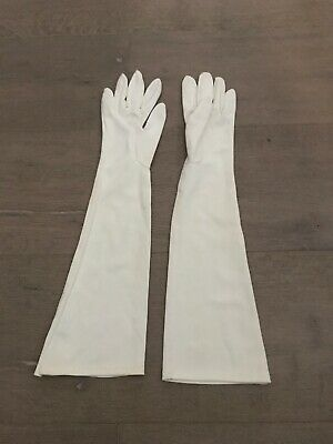 Vintage Harms of California Off White Evening Opera Gloves Princess Gloves Sd. 7