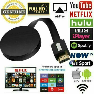 For Chromecast 4rd Generation 1080P Digital HDMI Media Video Streamer Player QV