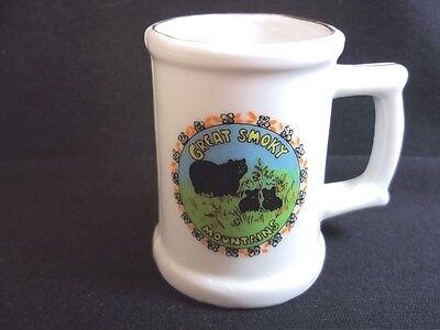 Great Smoky Mountains souvenir shot mug Tennessee & North Carolina