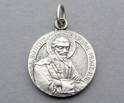 French, Antique Religious Pendant. Saint Benedict Joseph Labre. Medal by Penin.