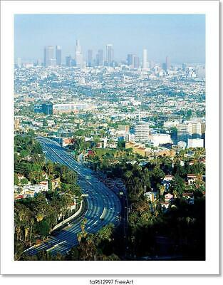 Downtown Los Angeles Art/Canvas Print. Poster, Wall Art, Home Decor - C