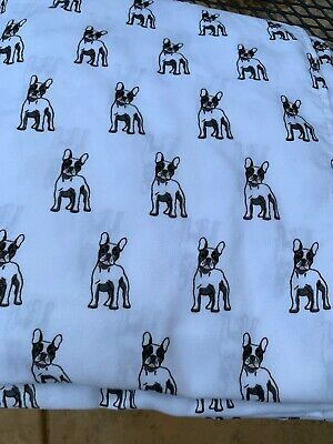 French Bulldog Black White Sheet Set Queen Fitted Flat 2 Pillowcases Whimsical