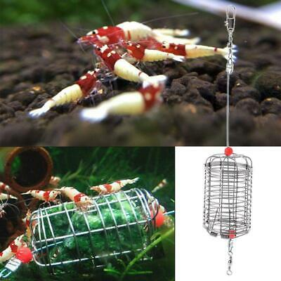 Aquarium Shrimp Small Bait Feeder Cage Dry Spinach Feeding Basket for Fish Food.