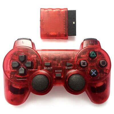 1pc For Sony PS2 2.4G Wireless Twin Shock Game Controller Joystick Joypad Red
