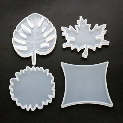 Silicone Mold Round Leaves Wave Coaster Resin Casting Epoxy Mould DIY Craft