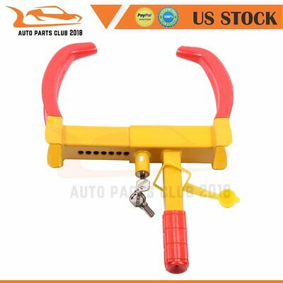 Lot Key Wheel Lock Clamp Boot Tire Claw Trailer Car Anti-Theft Towing 19