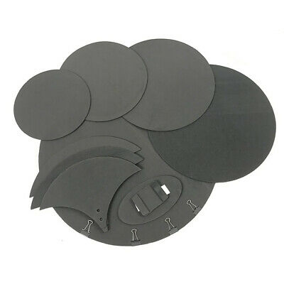 10Pcs Mute Silencer Drumming Practice Pad Bass Snare Drums Sound off Pad Kit