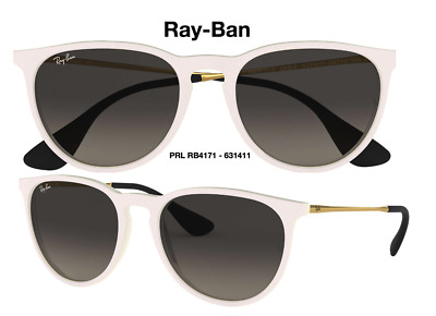 Ray-Ban RB4171 631411 Erika Classic White-Gold/Grey Gradient Sunglasses 57mm