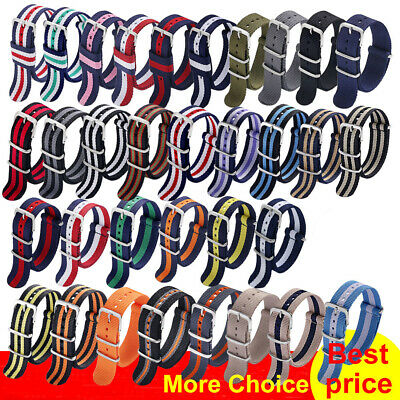 Watch Band 18mm 20mm 22mm for Nato Nylon Sport 007 Wristband Strap Buckle Belt
