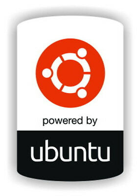 Powered by Ubuntu Linux sticker/decal for desktop/laptop computer