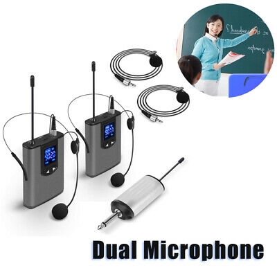 UHF Wireless System with Headset Mic/Lavalier Lapel Mics & Bodypack Transmitters