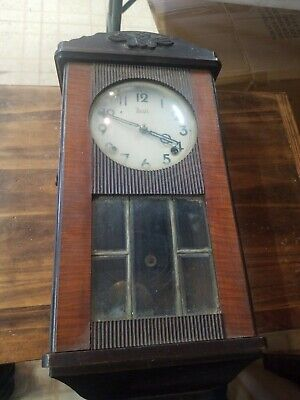 Japanese Antique Wooden  WALL CLOCK Meiji see pictures