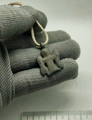 Perfect Ancient Bronze Pendant Amulet - Archangel Michael ,Viking AGE 9-11AD#261