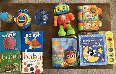 Baby Toddler Toys Bulk Lot Books, Robot, Stacking Cups, Musical Books