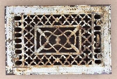 Antique Small Bronze/Cast 8x12 Victorian Tuttle Bailey NY Floor Grate Register