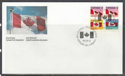 Canada Scott 1189a FDC - 1990 Flag Booklet Issue
