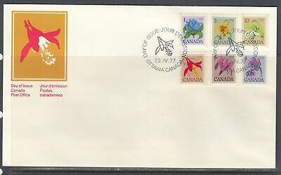 Canada Scott 705-11 Combo FDC - 1979-83 Floral Definitive Issue